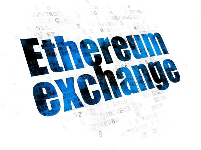 Concepto de Cryptocurrency: Intercambio de Ethereum en el fondo de Digitaces libre illustration