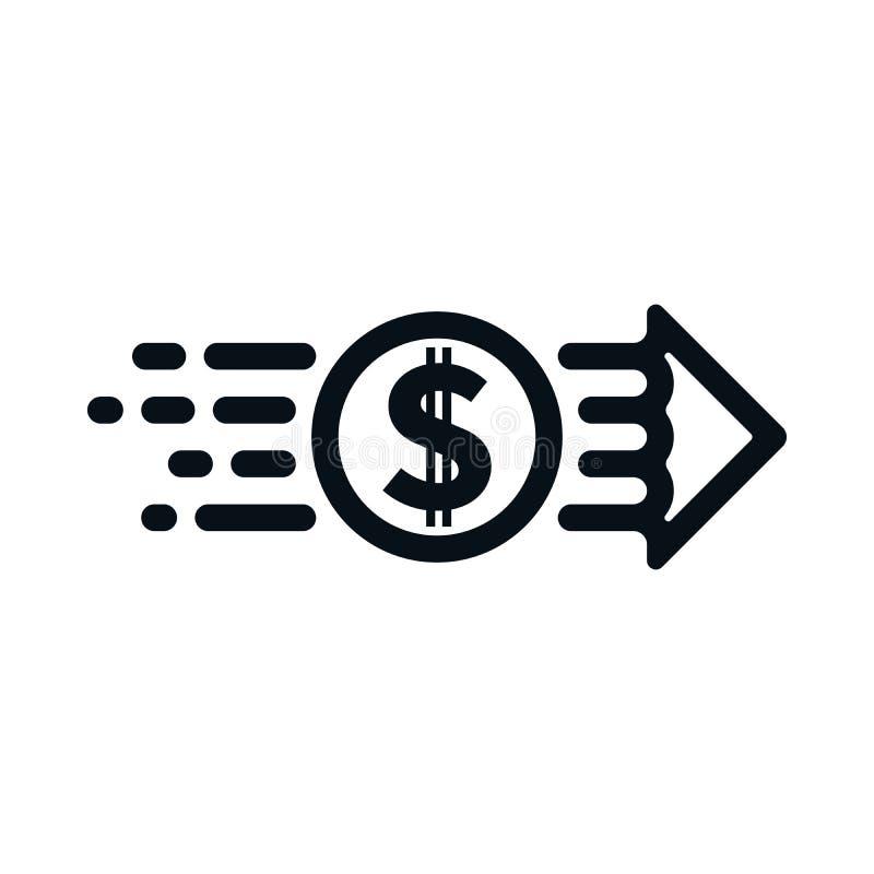 Concepto de dólar del remitente al receptor libre illustration