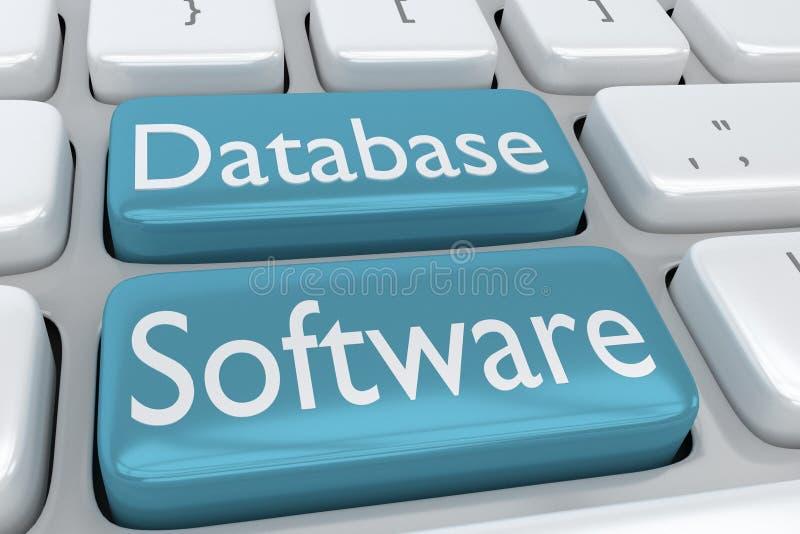 Concepto de Database Software libre illustration