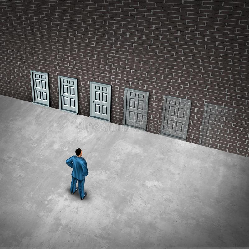 Concepto de descoloramiento del negocio de las oportunidades stock de ilustración