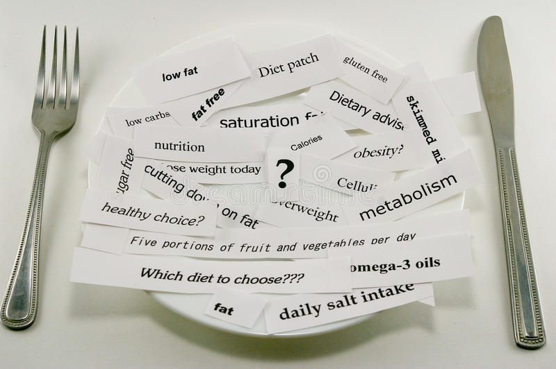 Concepto de dieta fotos de archivo