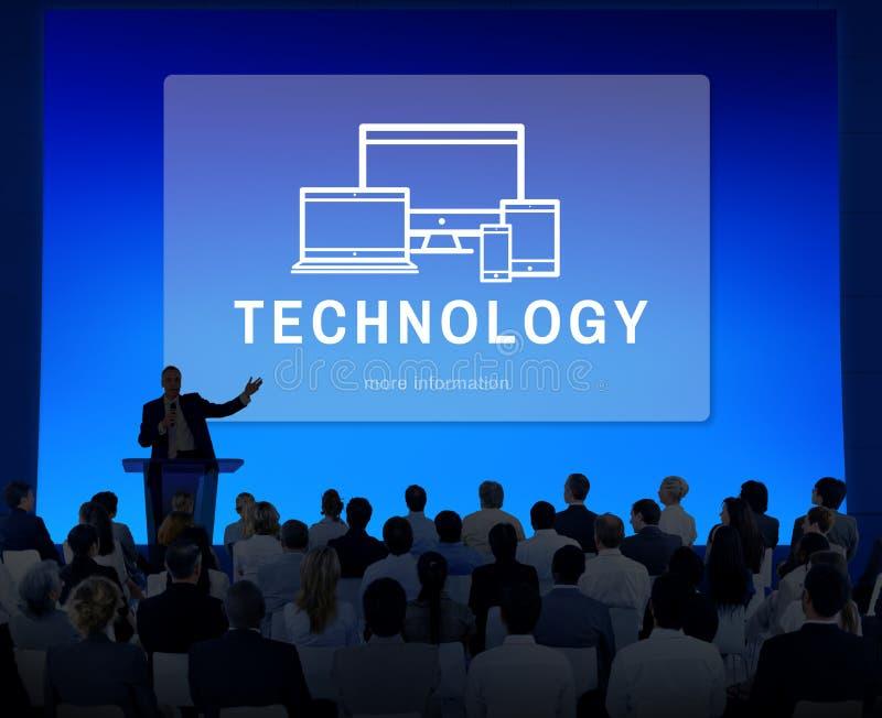 Concepto de Digitaces del desarrollo del dispositivo de la tecnología libre illustration