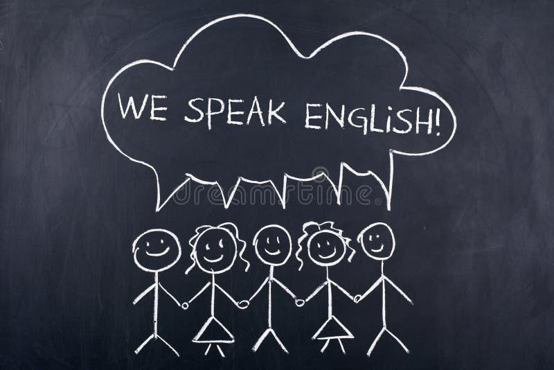 Concepto de discurso de la lengua inglesa imagen de archivo libre de regalías