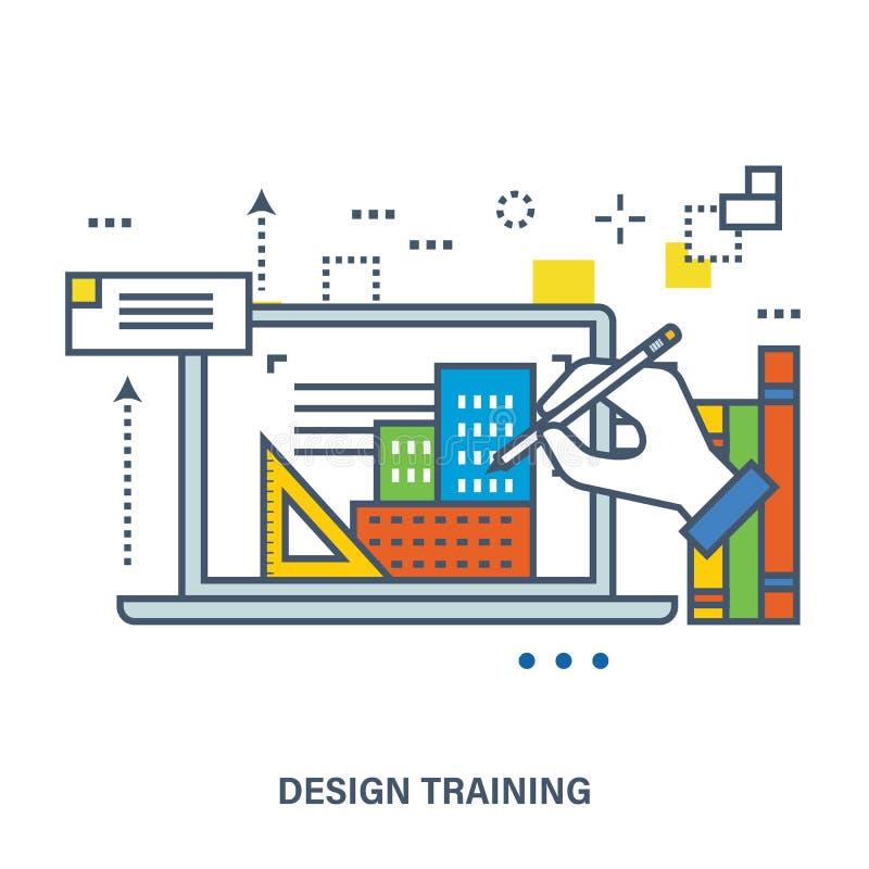 Concepto de diseño creativo stock de ilustración