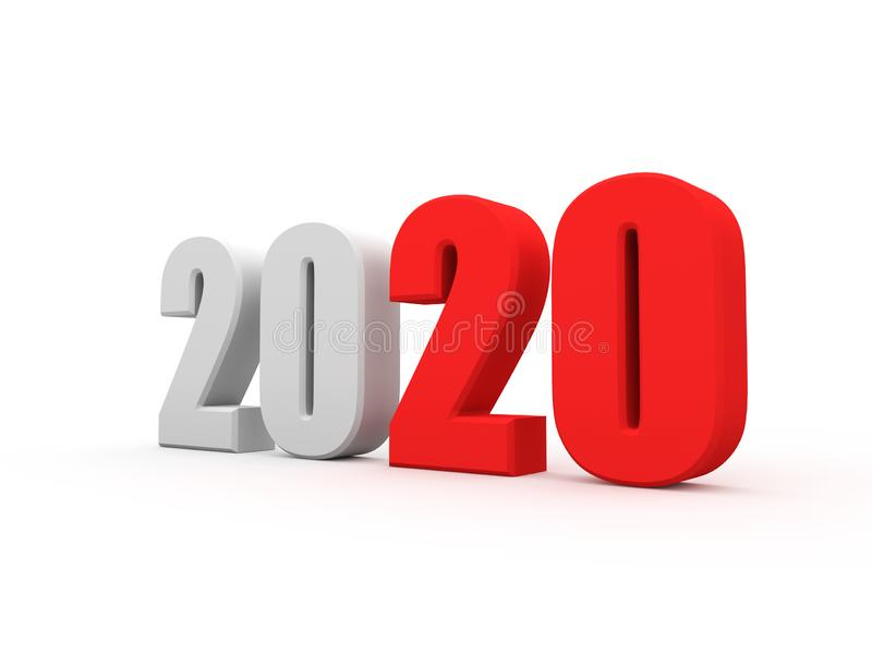 Concepto de diseño creativo del Año Nuevo 2020 ilustración del vector