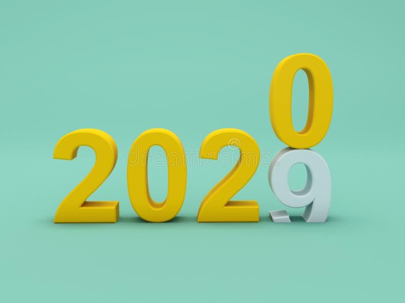Concepto de diseño creativo del Año Nuevo 2020 stock de ilustración