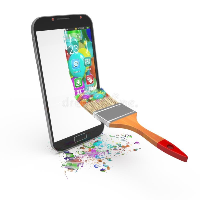 concepto de diseño de interfaz del smartphone libre illustration
