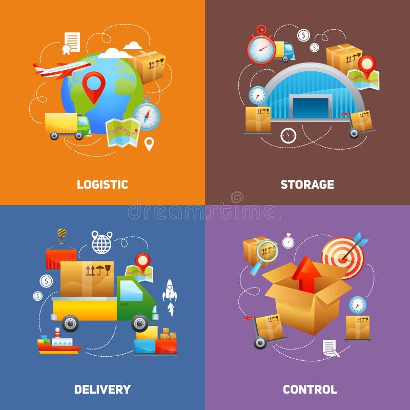 Concepto de diseño de la logística stock de ilustración