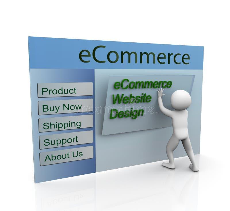 Concepto de diseño de Web seguro del comercio electrónico stock de ilustración