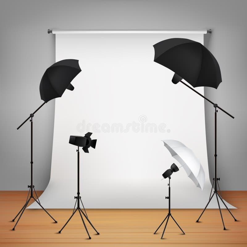 Concepto de diseño del estudio de la foto ilustración del vector