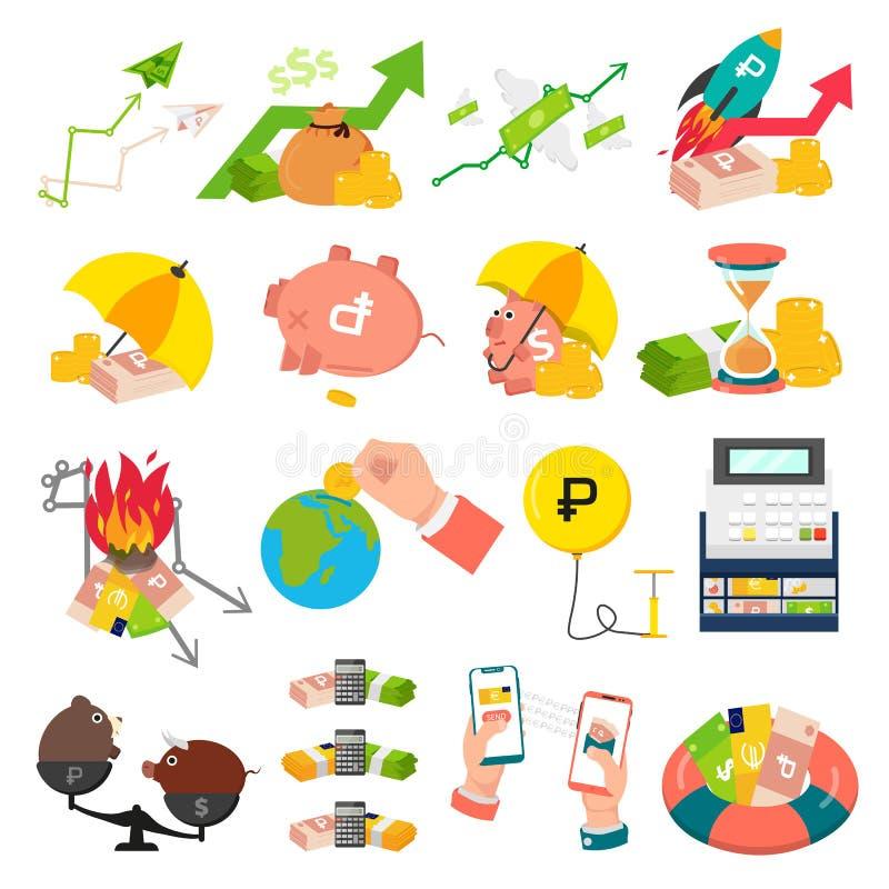 Concepto de diseño del intercambio de dinero fotografía de archivo libre de regalías