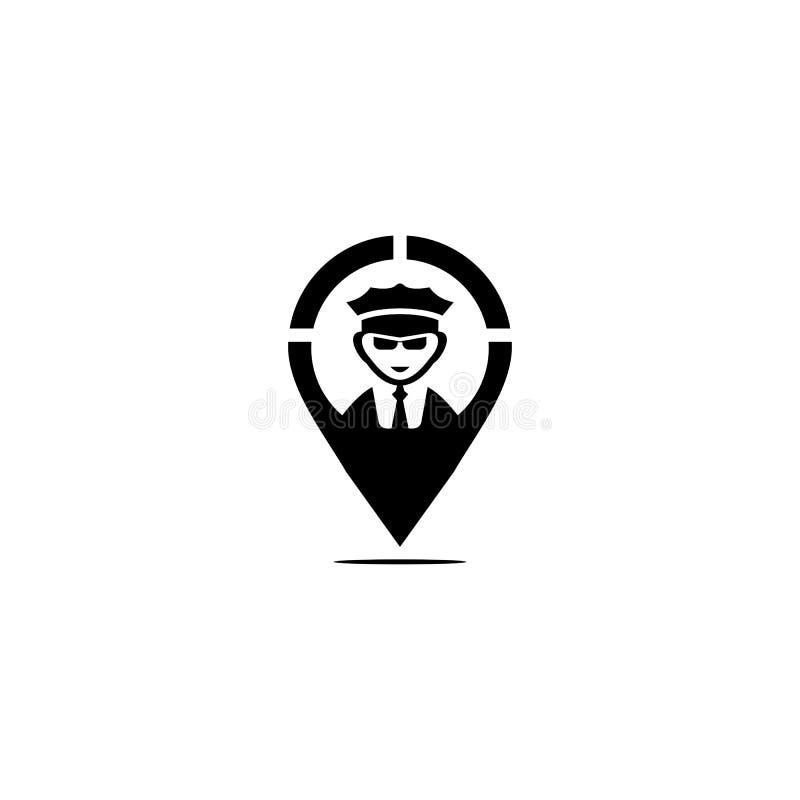 Concepto de diseño del logotipo del icono de la navegación de la seguridad ilustración del vector
