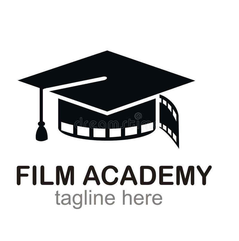 Concepto de diseño del logotipo de la academia de cine ilustración del vector