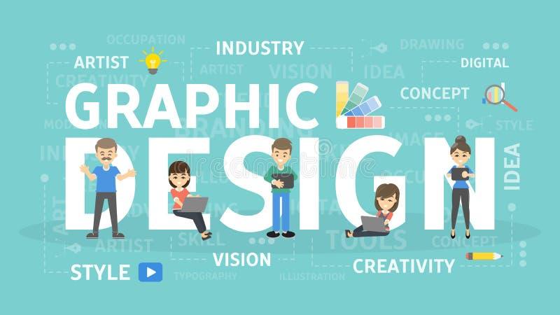 concepto de diseño gráfico stock de ilustración