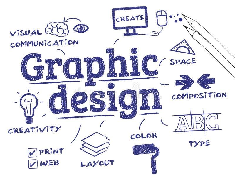 concepto de diseño gráfico ilustración del vector