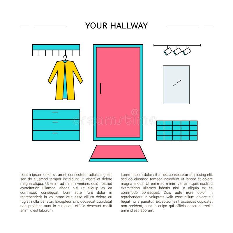 Concepto de diseño interior Su vestíbulo libre illustration