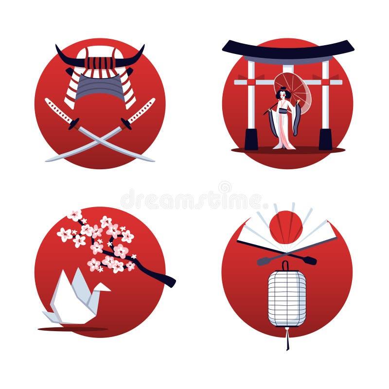 Concepto de diseño de Japón 2x2 libre illustration