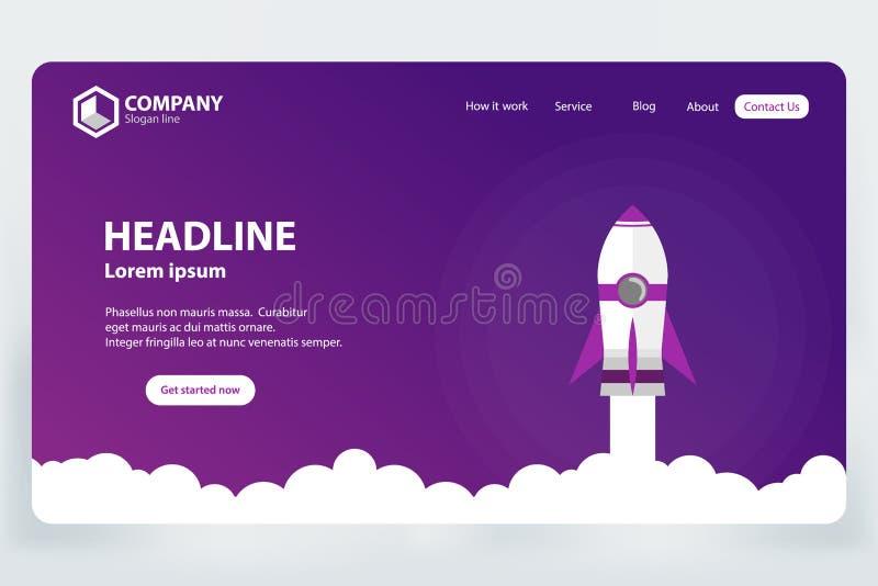 Concepto de diseño de la plantilla del vector de la página del aterrizaje de la graduación del sitio web stock de ilustración