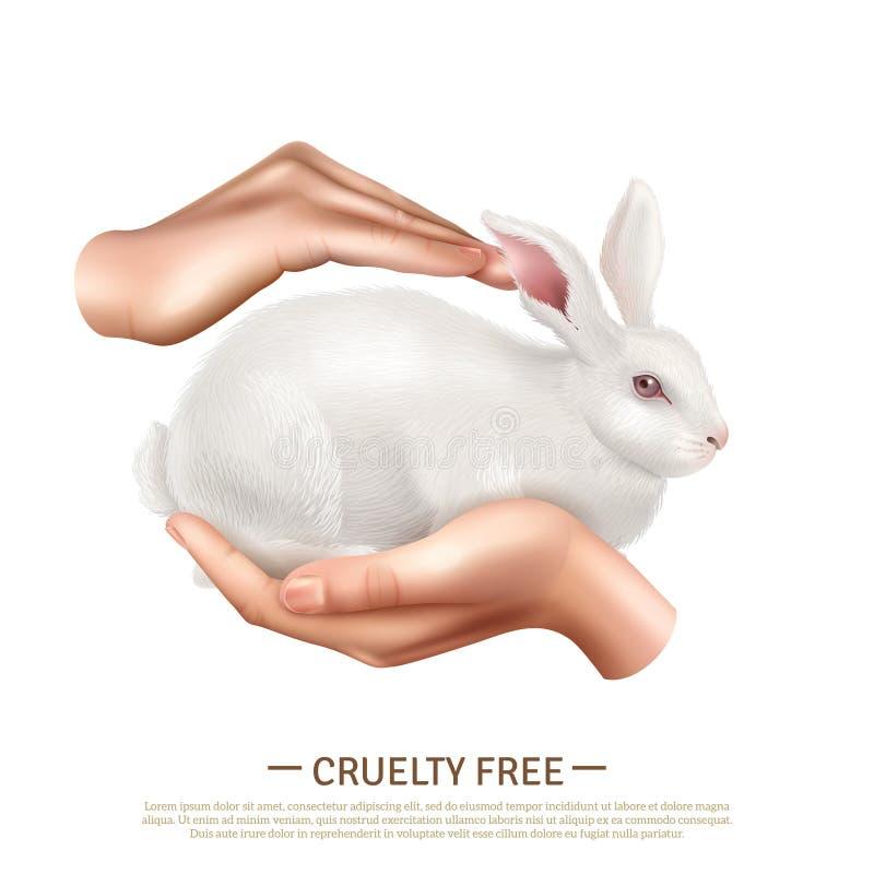 Concepto de diseño libre de la crueldad stock de ilustración