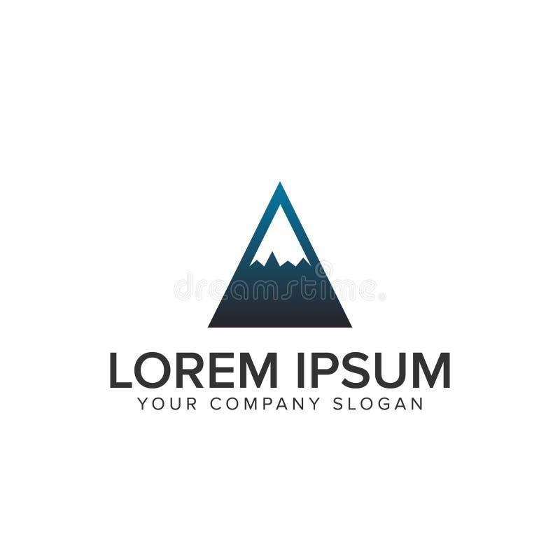 Concepto de diseño mínimo del logotipo de la montaña libre illustration