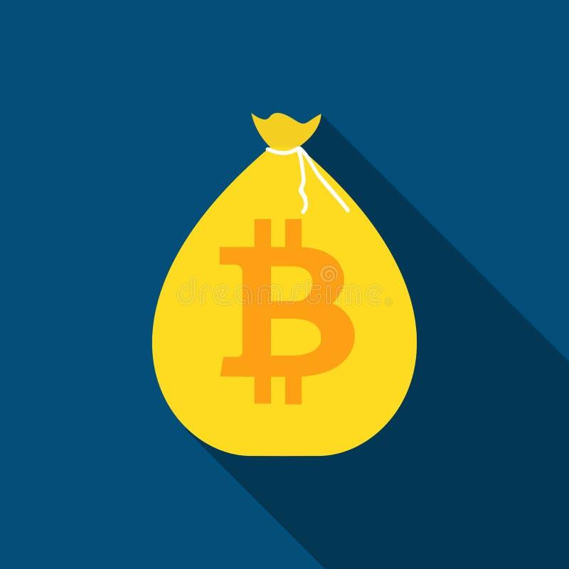 Concepto de diseño moderno plano de la tecnología del cryptocurrency del bitcoin, explotación minera, e-cartera stock de ilustración