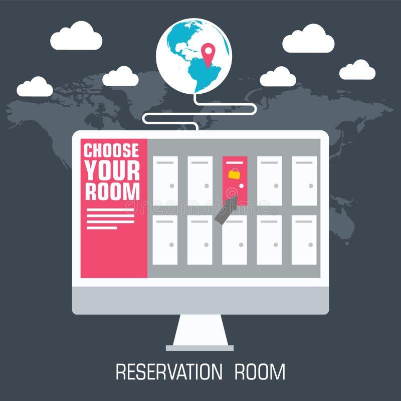 Concepto de diseño plano del fondo del sitio de la reserva Ilustración del vector libre illustration