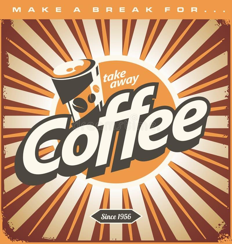 Concepto de diseño retro de la cafetería ilustración del vector