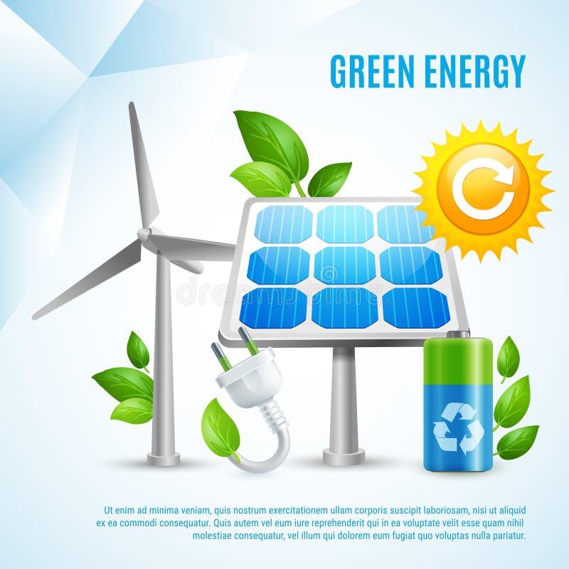 Concepto de diseño verde de la energía stock de ilustración