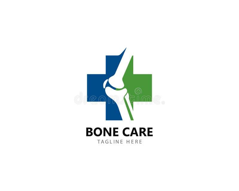 Concepto de diseños del logotipo de la salud del hueso, vector del tratamiento del hueso stock de ilustración