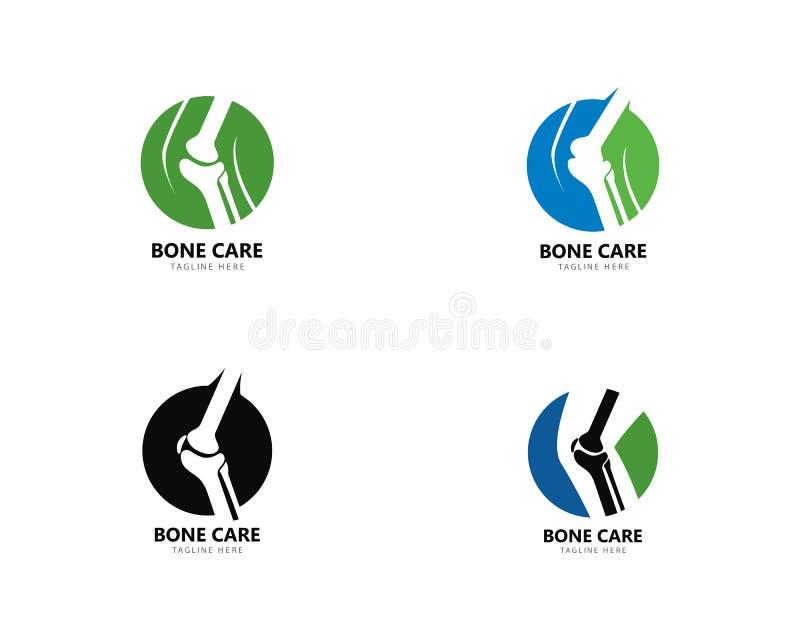 Concepto de diseños del logotipo de la salud del hueso, vector del tratamiento del hueso ilustración del vector