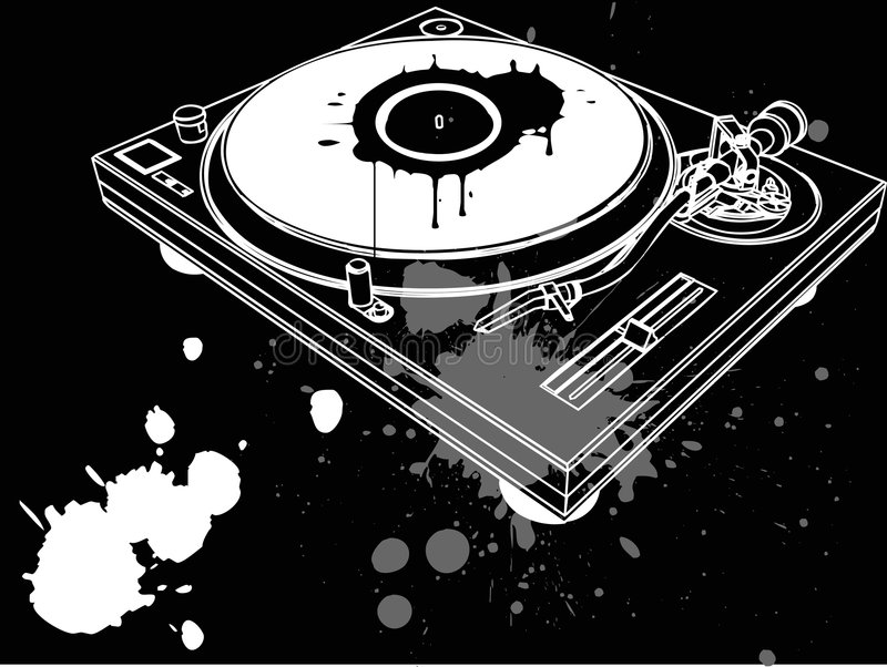 Concepto de DJ libre illustration