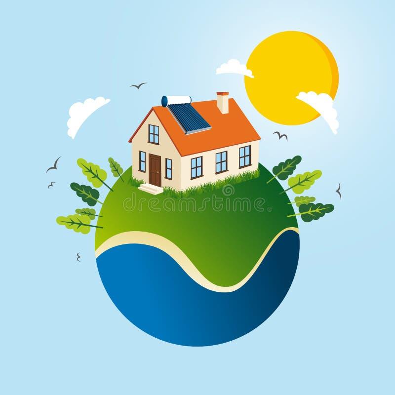 Concepto de energía solar verde libre illustration