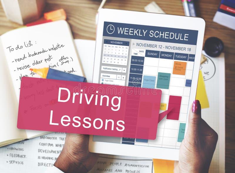 Concepto de enseñanza de la licencia del examen de la prueba de las lecciones de conducción imagen de archivo