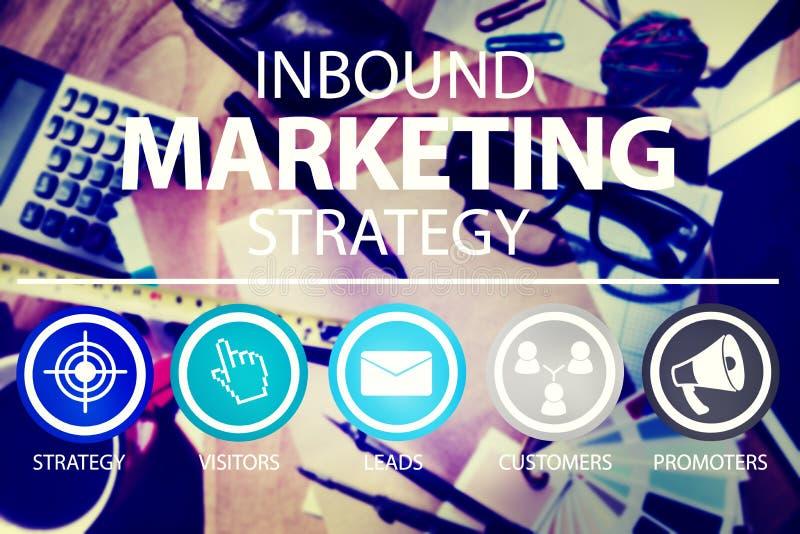Concepto de entrada de la solución del comercio de la estrategia de marketing imagenes de archivo