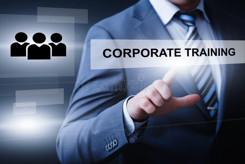 Concepto de entrenamiento corporativo de la tecnología de Internet del negocio de las habilidades del aprendizaje electrónico de  fotografía de archivo libre de regalías