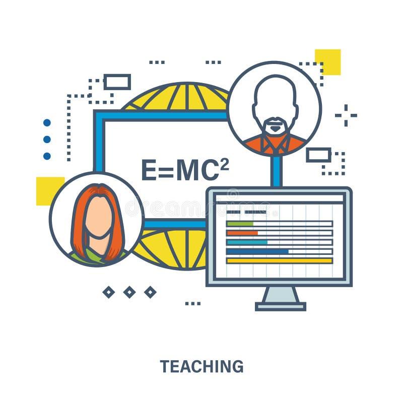 Concepto de entrenamiento, de enseñanza y de clases particulares ilustración del vector