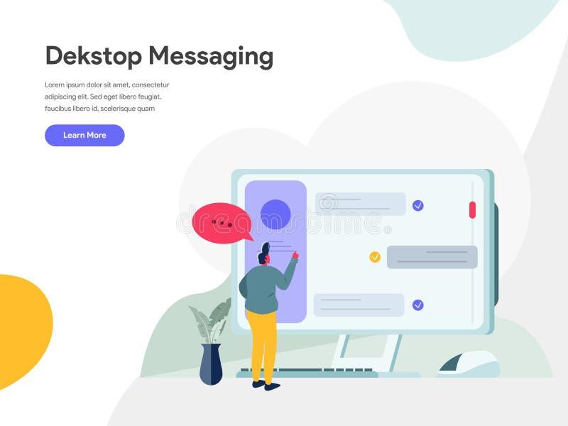 Concepto de escritorio del ejemplo de la mensajería r Vector libre illustration