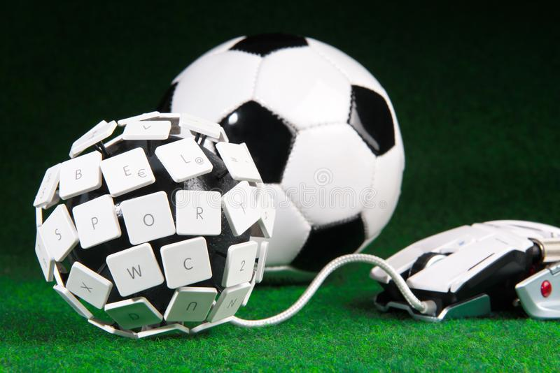 Concepto de ESport - bola del teclado imágenes de archivo libres de regalías