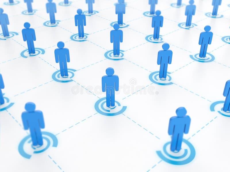 Concepto de establecimiento de una red social ilustración del vector