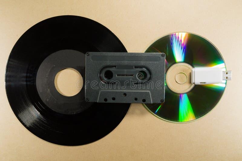 Concepto de evolución de la música fotos de archivo