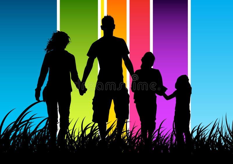 Concepto de familia feliz stock de ilustración