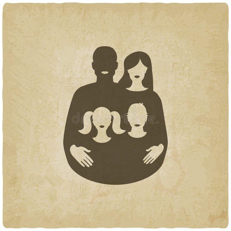 Concepto de familia joven padre y madre con ilustración del vector