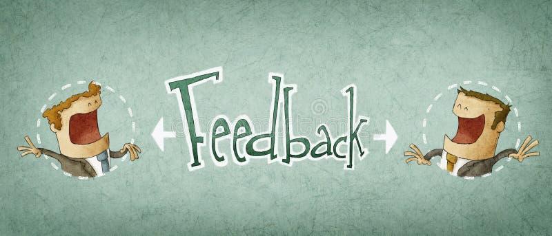 Concepto de feedback ilustración del vector