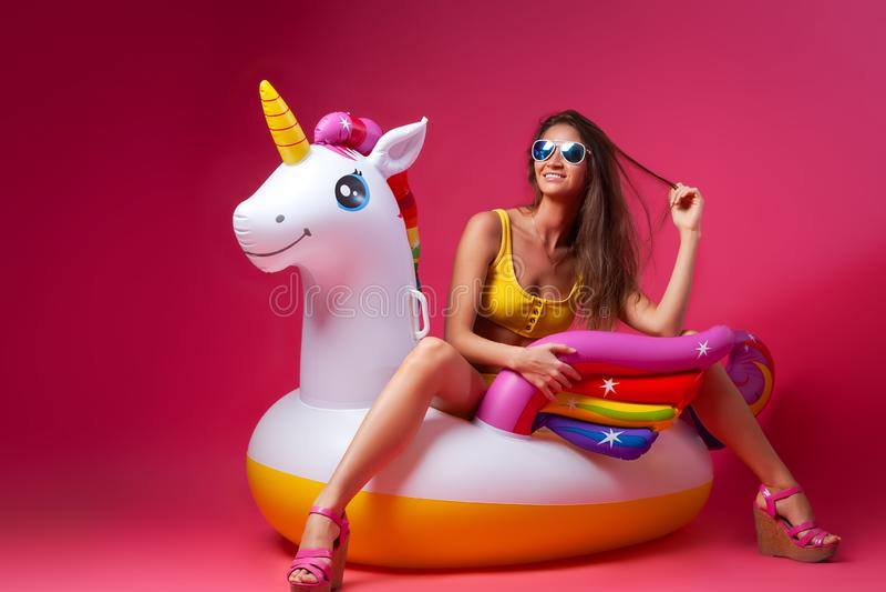 Concepto de feliz humor del verano imágenes de archivo libres de regalías