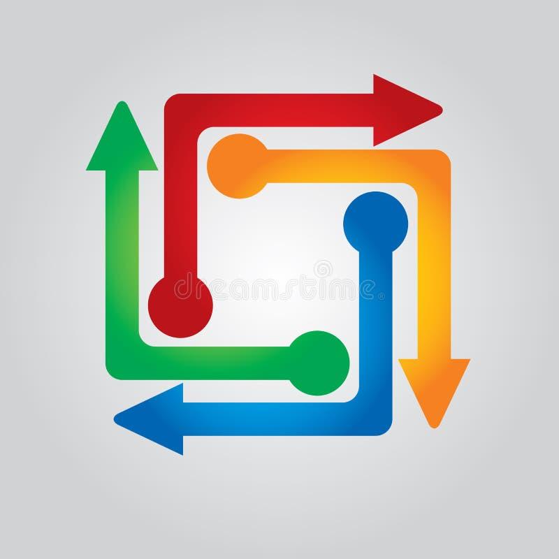 Concepto de flujo del asunto stock de ilustración