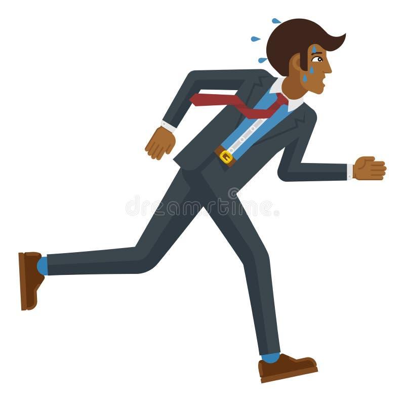 Concepto de funcionamiento cansado de la presi?n de la tensi?n del hombre de negocios libre illustration