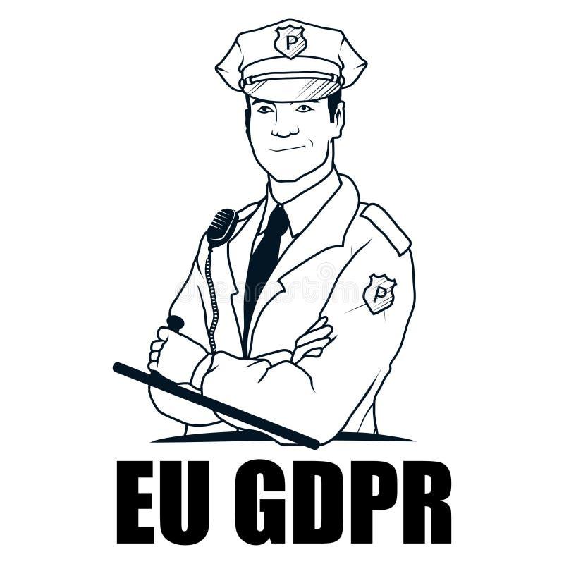 Concepto de GDPR Regulación general de la protección de datos stock de ilustración