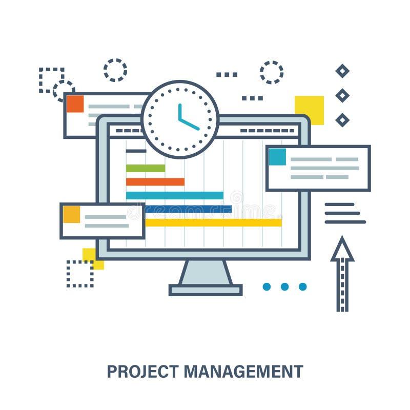 Concepto de gestión del proyecto stock de ilustración