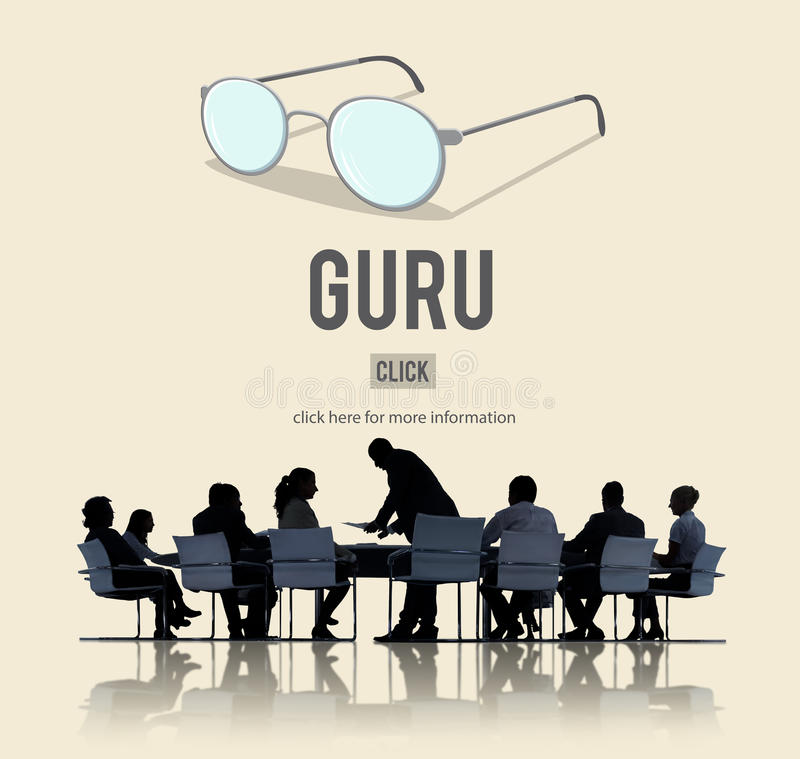 Concepto de Guru Master Mentor Leader Professional fotografía de archivo
