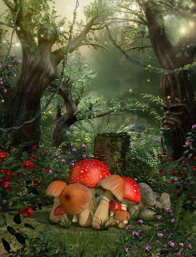 Concepto de hadas mágico encantador de maderas libre illustration